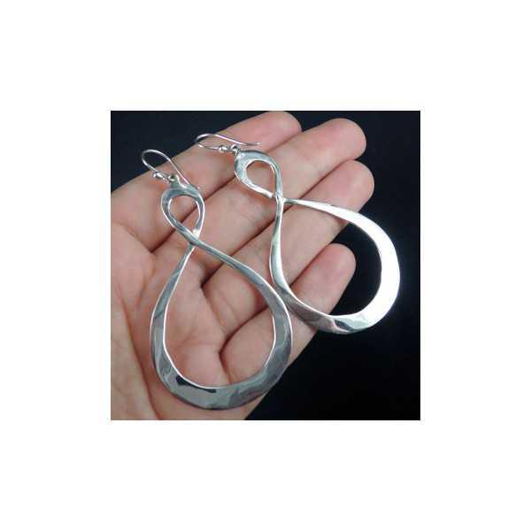 Silber Ohrringe mit Infinity-Zeichen