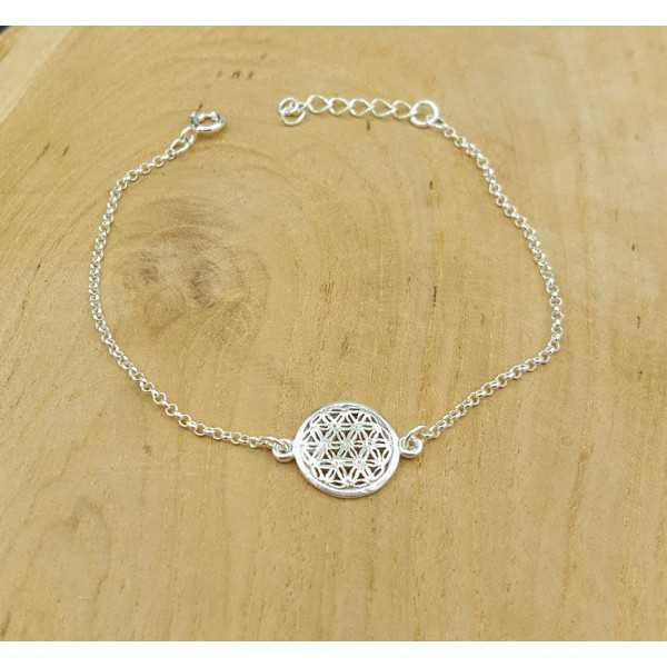 Silver bracelet with round charm