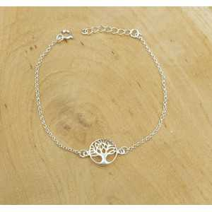 Silver bracelet with tree of life charm