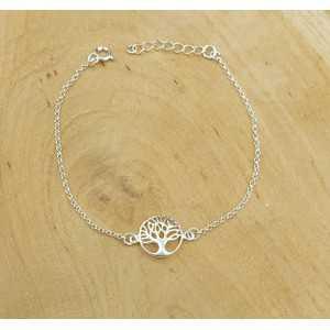 Zilveren armband met tree of life bedel