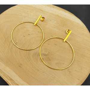Vergoldete Ohrringe hoop große