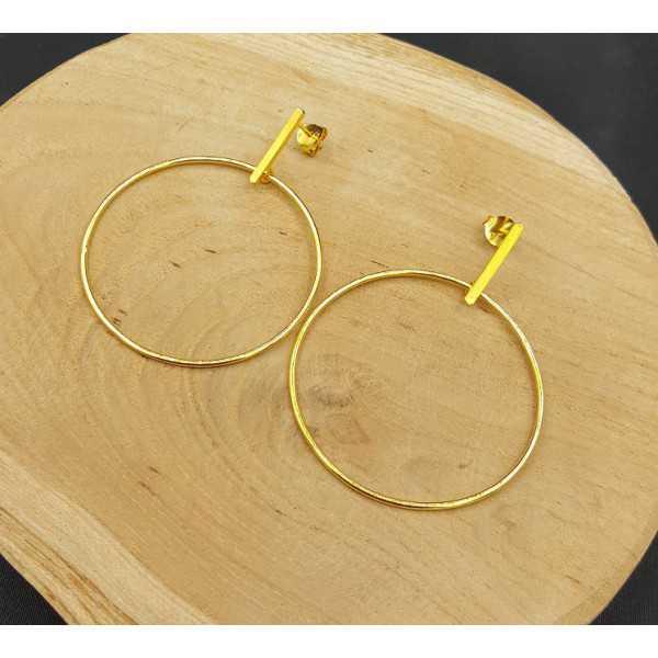 Goud vergulde oorbellen hoepel large