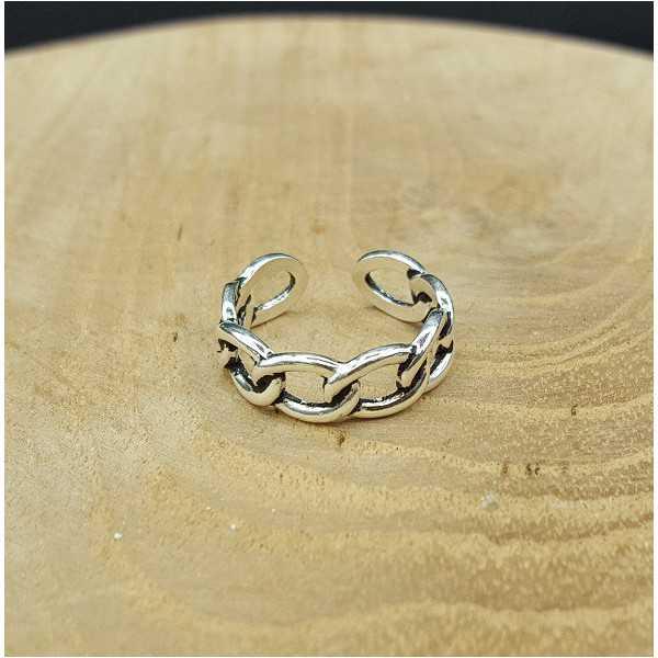 Silver link ring adjustable