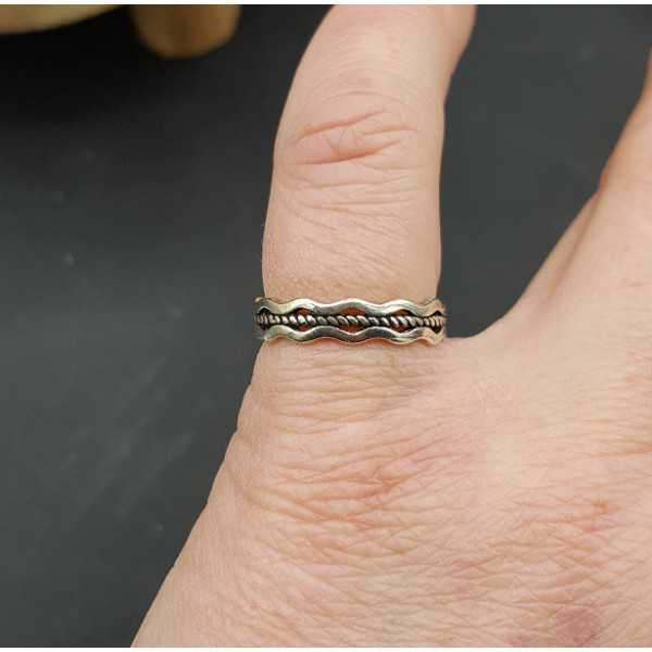 Silver wave ring adjustable