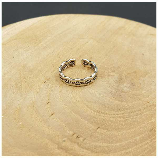 Silber Welle ring verstellbar