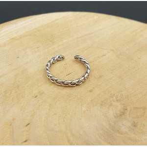 Silver link ring verstellbar