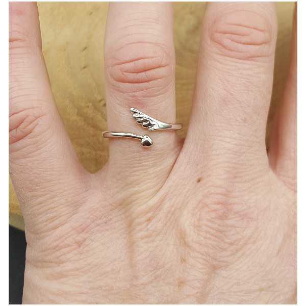 Zilveren met vleugeltje verstelbaar