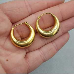 Gold plated wide creoles