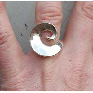 Zilveren ring wave 17.5 mm