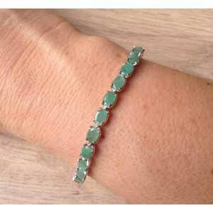 Silber Armband mit Smaragd und d