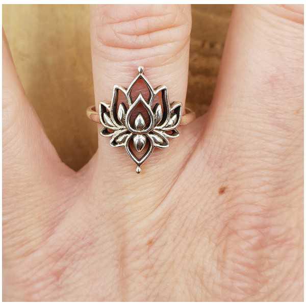 Silber ring mit Lotus 16.5 oder 17.5 mm