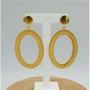 Gold plated earrings dreamer