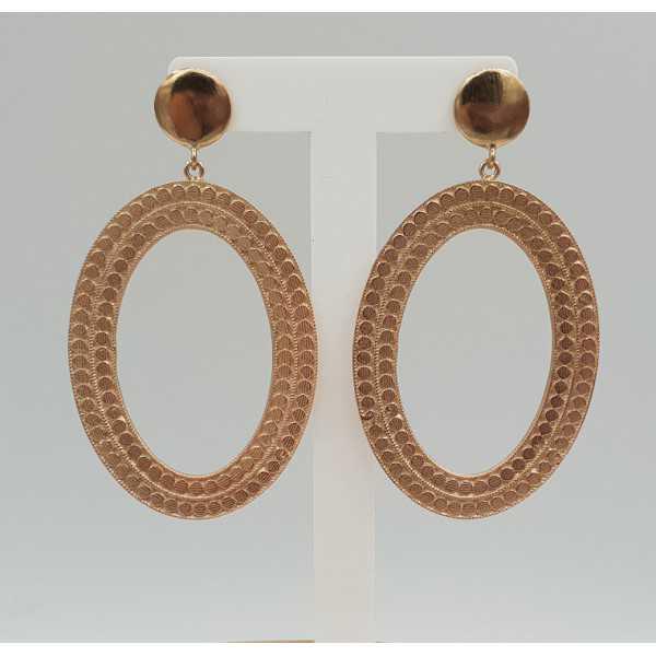 Rose gold plated earrings dreamer