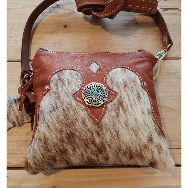 Rindleder Damen-Freizeit-Tasche Braun