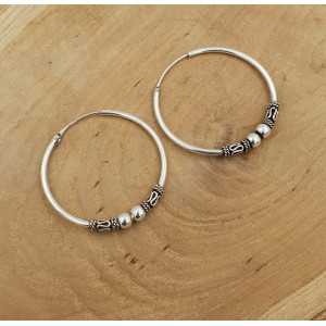 Narrow creoles earrings silver edit large