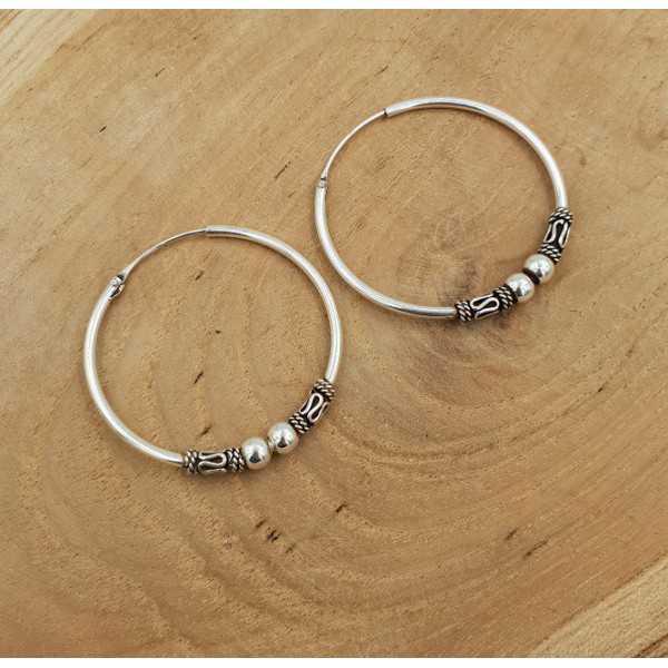 Die schmalen Kreolen Ohrringe Silber Bearbeiten große