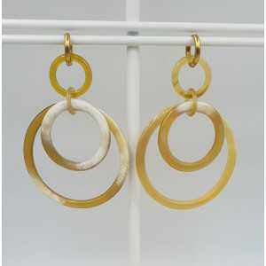 Creoles with rings of buffalo horn