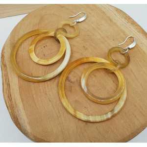 Ohrringe mit Ringen von buffalo horn