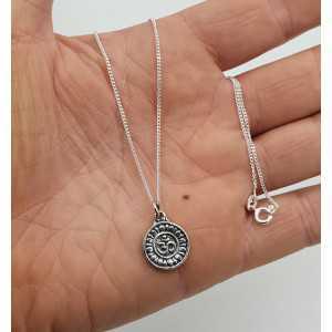 Zilveren ketting met Ganesh en OM teken hanger dubbelzijdig