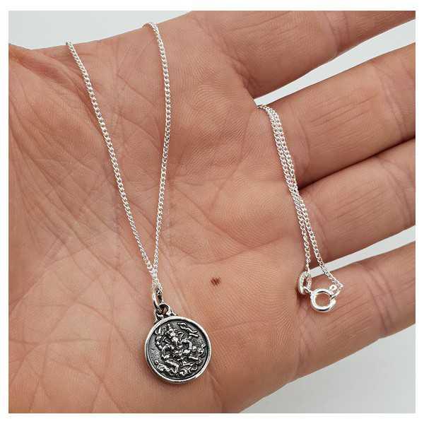 Silber Halskette mit Ganesha und Zeichen-Anhänger doppelseitig