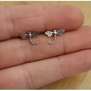 Silber oorknoppen mit Libellen