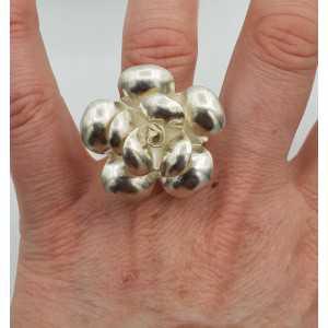 Silber ring mit rose Blume einstellbar