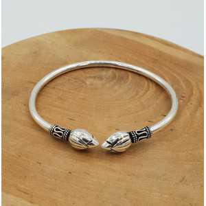 Silber Armband bali-Stil mit lotus