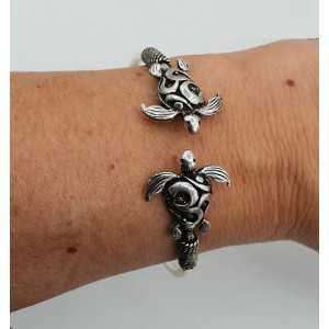 Silber Armband / Armreif mit zwei Schildkröten