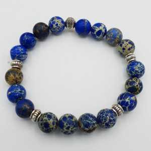 Stretch-Armband mit dark blue Sediment Jasper