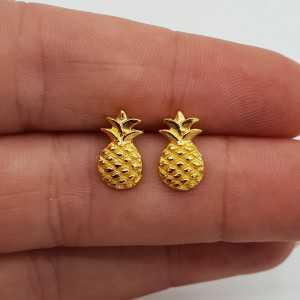 Vergoldete oorknoppen mit Ananas