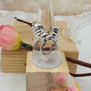 Silber-ring mit zwei Seepferdchen 18,5 mm
