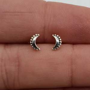 Silber kleine Mond oorknopjes
