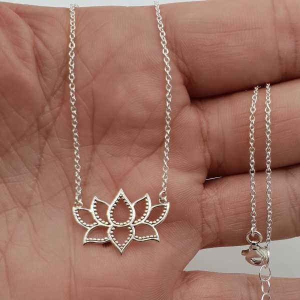 Silver necklace with Lotus pendant