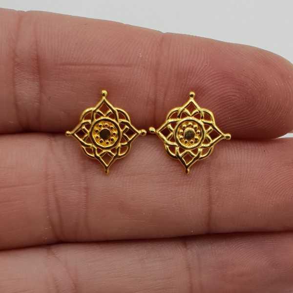 Vergoldete oorknopjes Mandala