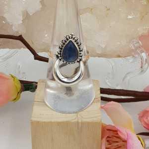 Silver moon-ring-set mit Kyanit