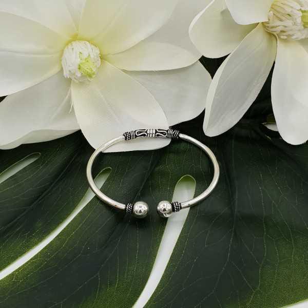 Silver bali style bracelet / bangle with bulbs