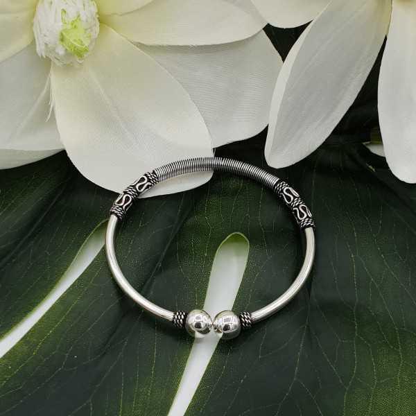 Mooie Sterling zilveren armband / bangle  Diameter: 5.8 cm