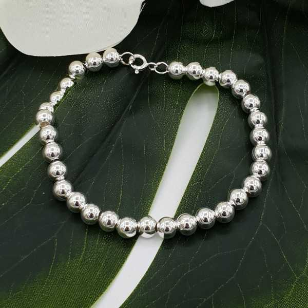 Silver bracelet balls 6mm