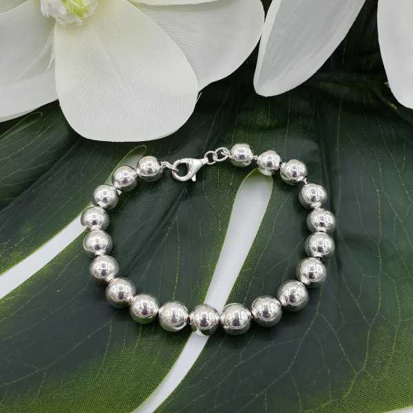 Silver bracelet balls 8mm