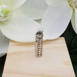 Zilveren parfumhanger / ashanger met Parelmoer