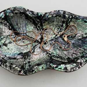 Vergoldete slangenketting 1mm, 45 cm