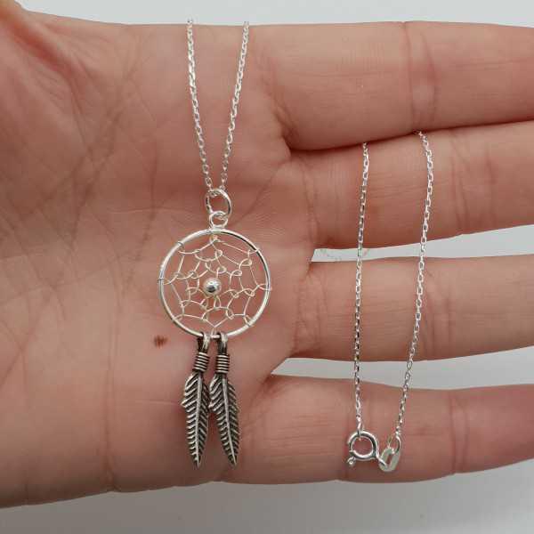 Silber-Halskette mit Traumfänger-Anhänger