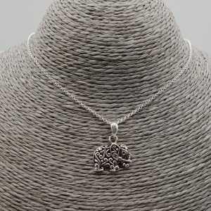 Silber-Halskette mit Elefant-Anhänger
