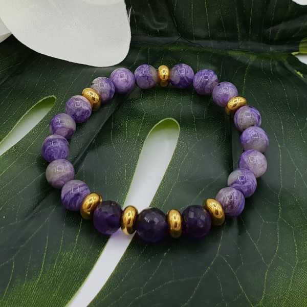 Bracelet of Charoiet and Amethyst