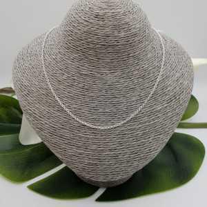 Silver jasseron necklace 40 cm 2mm