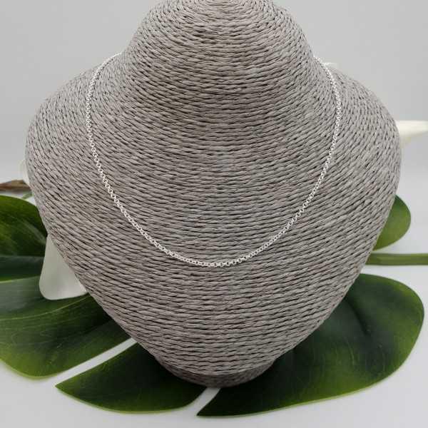 Silberne jasseron Halskette 40 cm 2mm