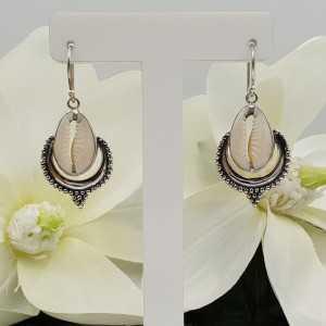 Silber Ohrringe-set mit Kauri shell