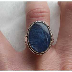 Silver ring with Kyanite in edited setting 17.3 mm