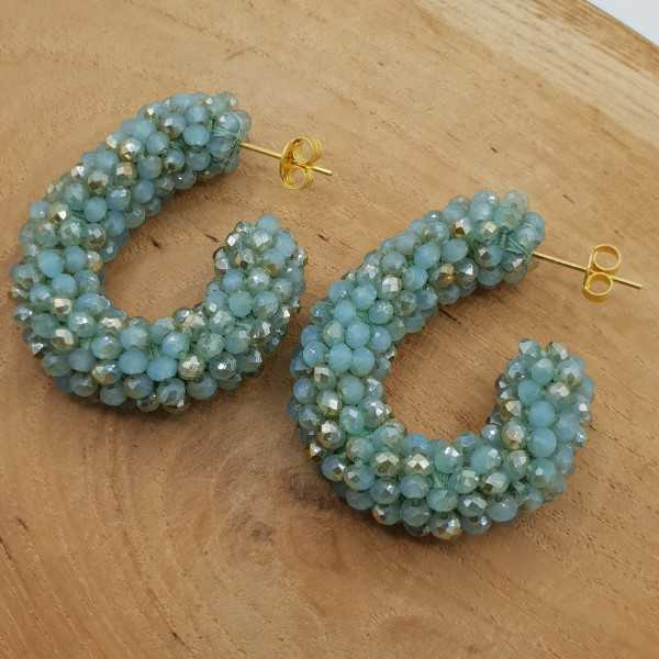 Glassberry creoles with crystals