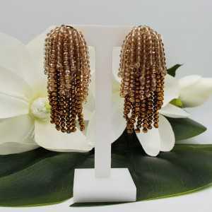 Vergoldete Wasserfall Quaste Ohrringe gold Champagner